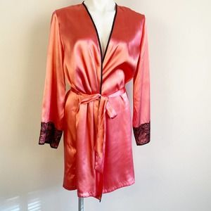 New Directions Intimates Satin Robe S/M